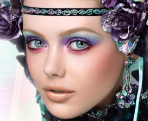 Anna-Sui-Kaleidoscope-of-Color-fall-2010-collection-makeup-look