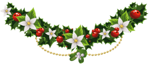 Transparent_Christmas_Mistletoe_Garland_Flowers_PNG_Clipart
